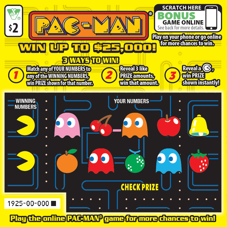Virginia Lottery'S PAC-MAN® Scratcher Ticket Has Players