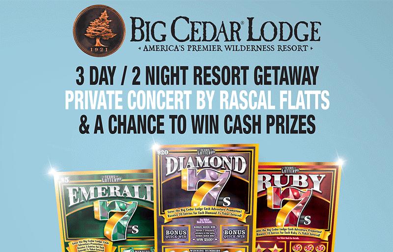 Texas Lottery: Big Cedar Lodge