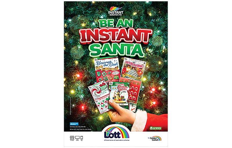 The Lott introduces its new holiday scratch-off instant tickets for 2020.
