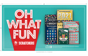California Lottery holiday scratchers